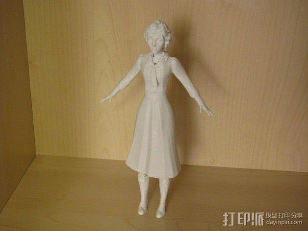 生化奇兵 伊丽莎白模型 3D模型  图3