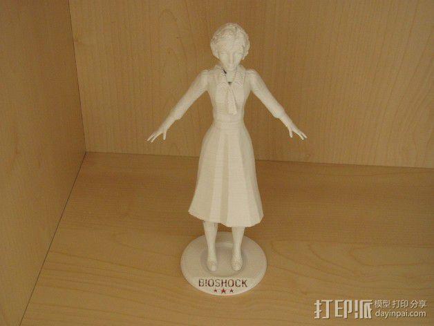 生化奇兵 伊丽莎白模型 3D模型  图2