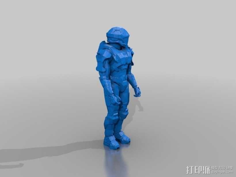 光晕 战士 3D模型  图2