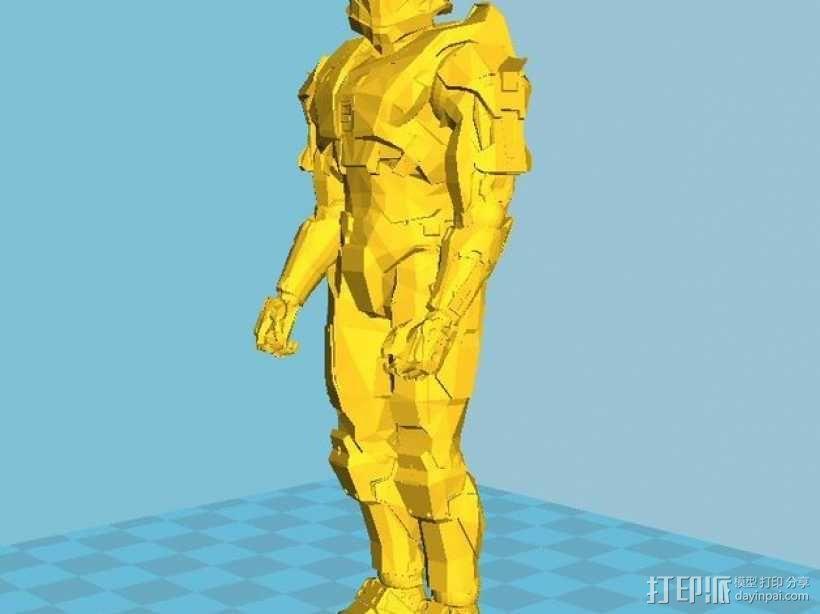 光晕 战士 3D模型  图1