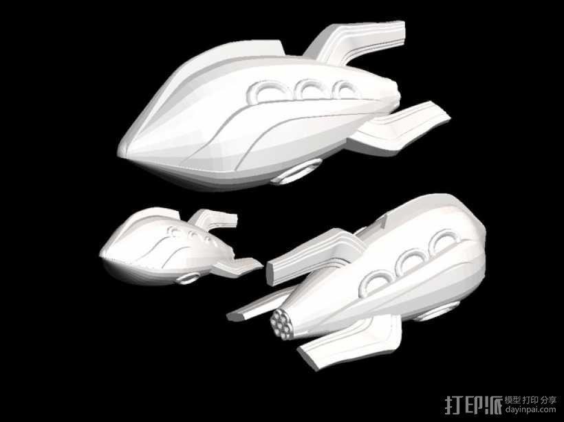Zorgon 飞船 3D模型  图1