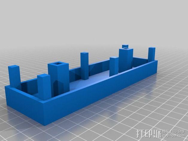 火车轨道 车站月台 3D模型  图2