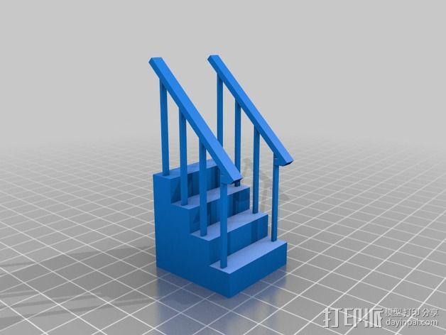 火车轨道 车站月台 3D模型  图4