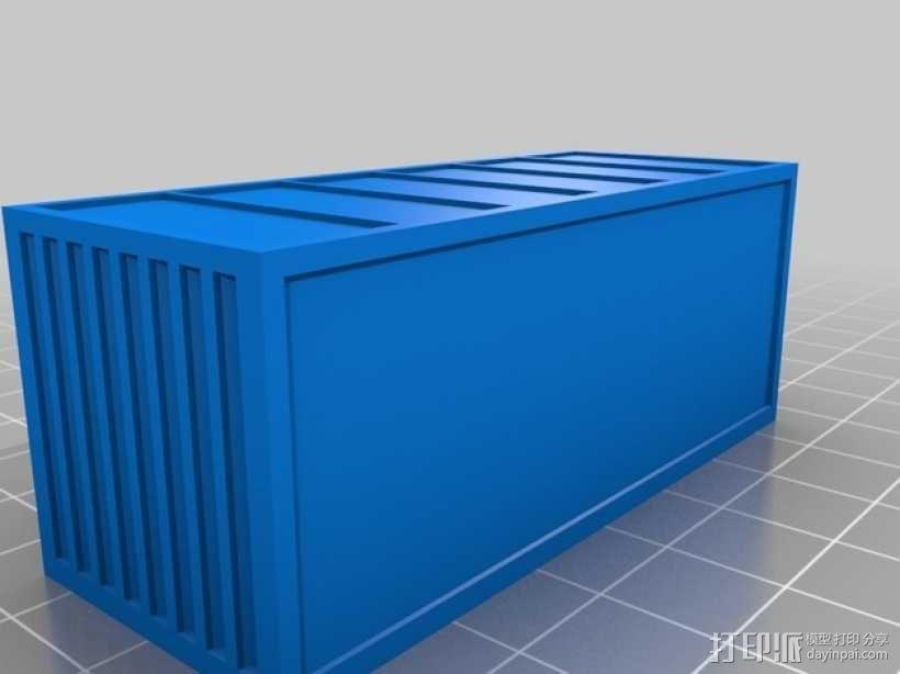 集装箱 3D模型  图1