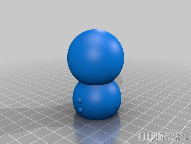 滑雪的雪人 3D模型  图2