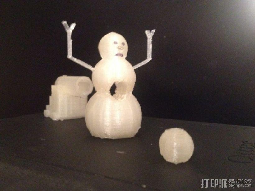 加农炮 雪人 3D模型  图1