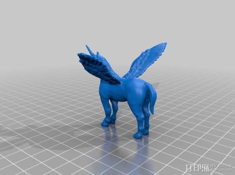 独角飞马 3D模型  图1