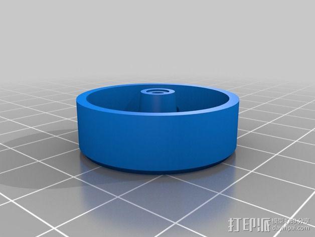 松木车轮 3D模型  图2