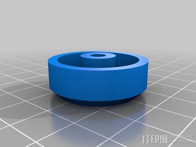 松木车轮 3D模型  图1