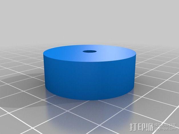 松木车轮 3D模型  图4