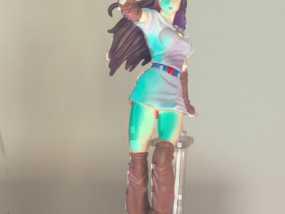 漫画女孩 3D模型