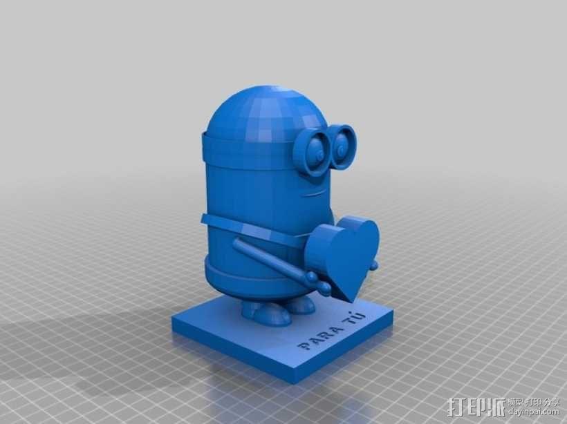 情人节小黄人 3D模型  图5
