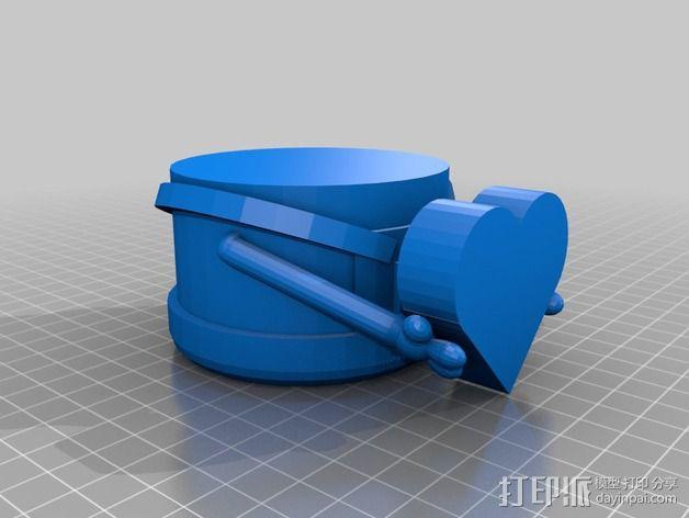 情人节小黄人 3D模型  图4