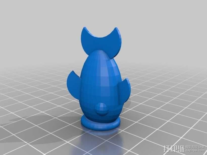 鱼形铅笔套 3D模型  图1