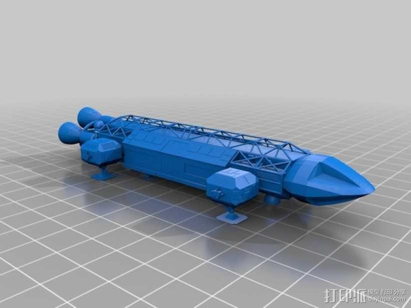 Space 1999苍鹰号飞船 3D模型  图1