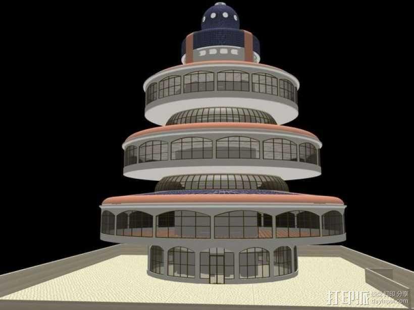 概念式圆顶建筑 3D模型  图1