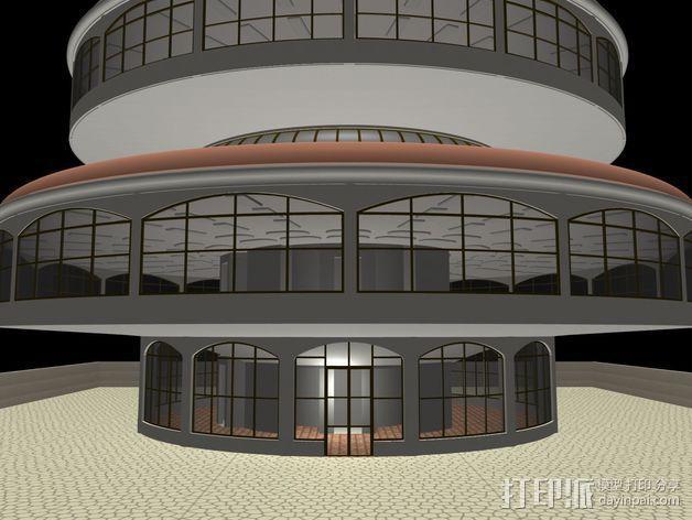 概念式圆顶建筑 3D模型  图2