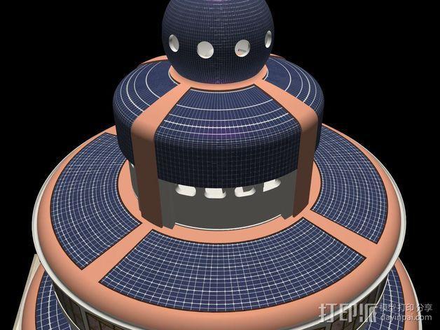 概念式圆顶建筑 3D模型  图5