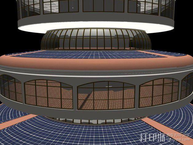 概念式圆顶建筑 3D模型  图4