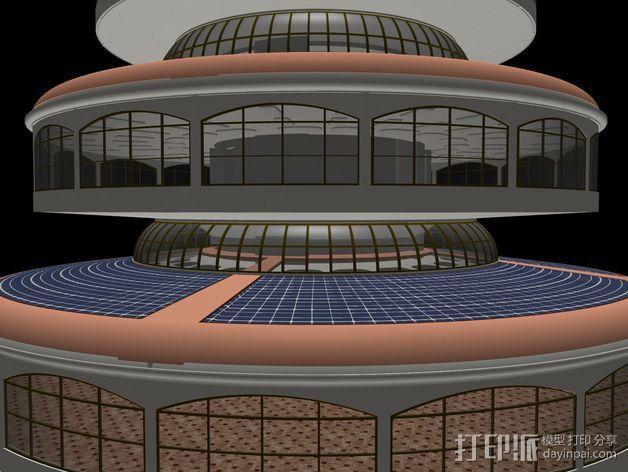 概念式圆顶建筑 3D模型  图3