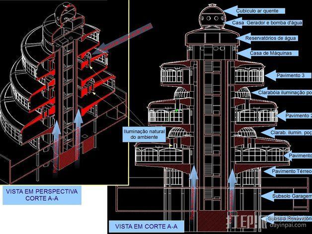 概念式圆顶建筑 3D模型  图9