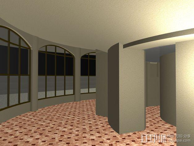概念式圆顶建筑 3D模型  图7