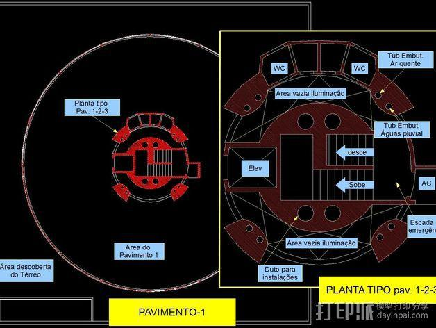 概念式圆顶建筑 3D模型  图11