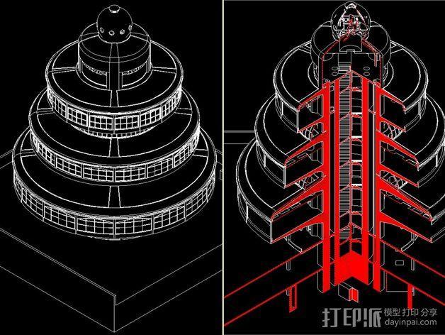 概念式圆顶建筑 3D模型  图12