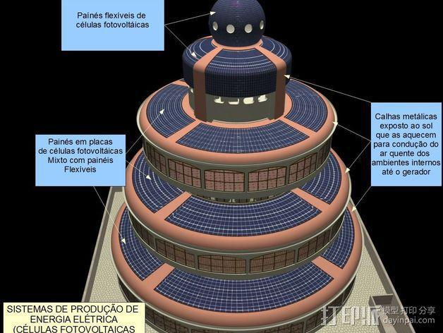 概念式圆顶建筑 3D模型  图13