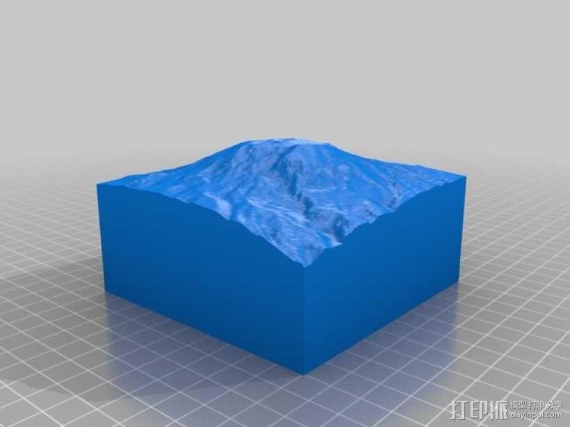乞力马扎罗山地形模型 3D模型  图2