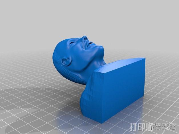 汉尼拔·莱克特头部模型 3D模型  图2