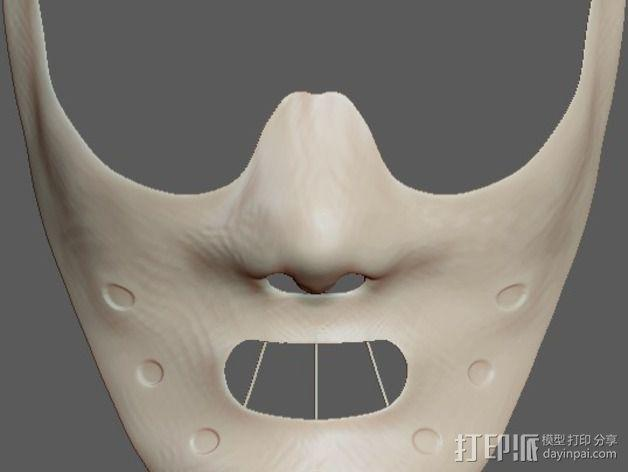 汉尼拔·莱克特头部模型 3D模型  图5