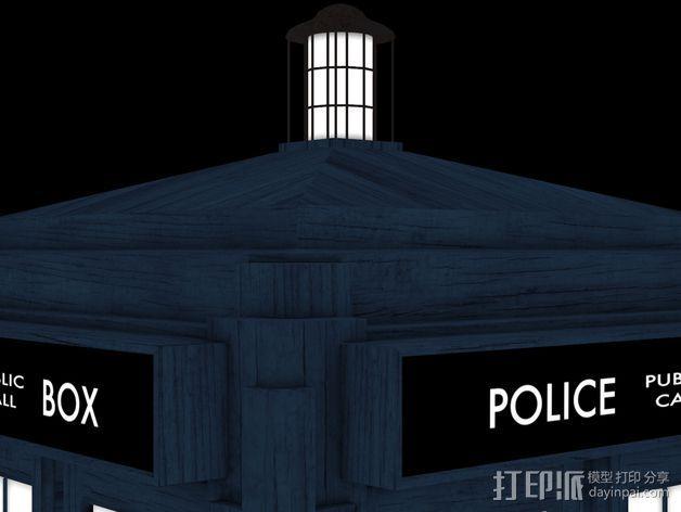 塔迪斯警察亭 3D模型  图2