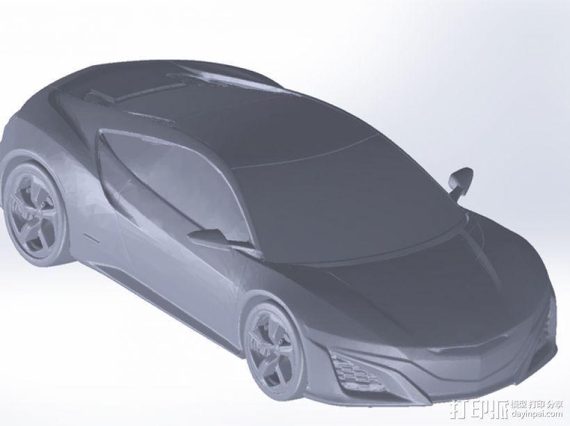 Honda NSX 本田汽车 3D模型  图1