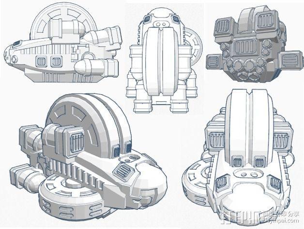 LightBringer 光明使者号飞船 3D模型  图2