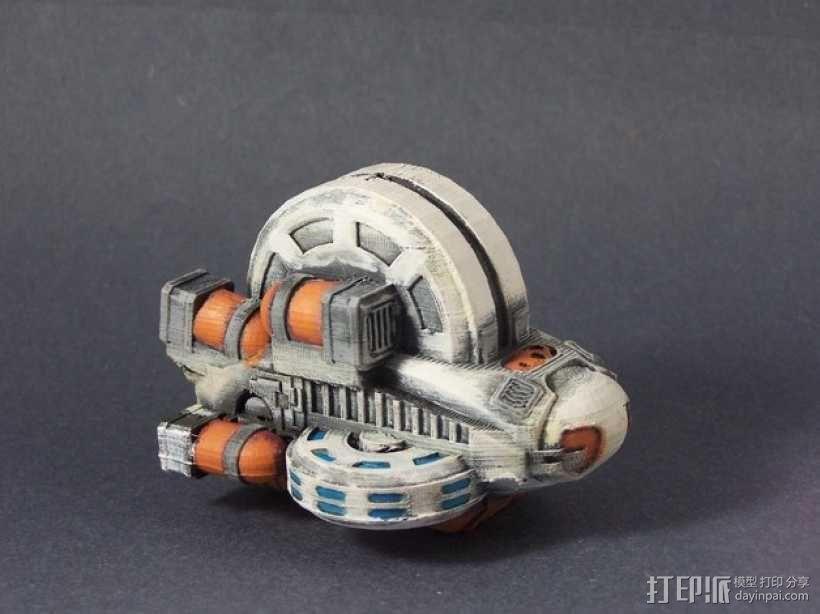 LightBringer 光明使者号飞船 3D模型  图1
