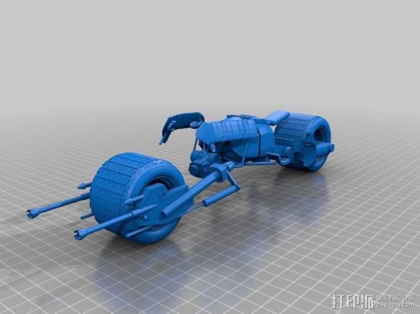 蝙蝠摩托车 3D模型  图1