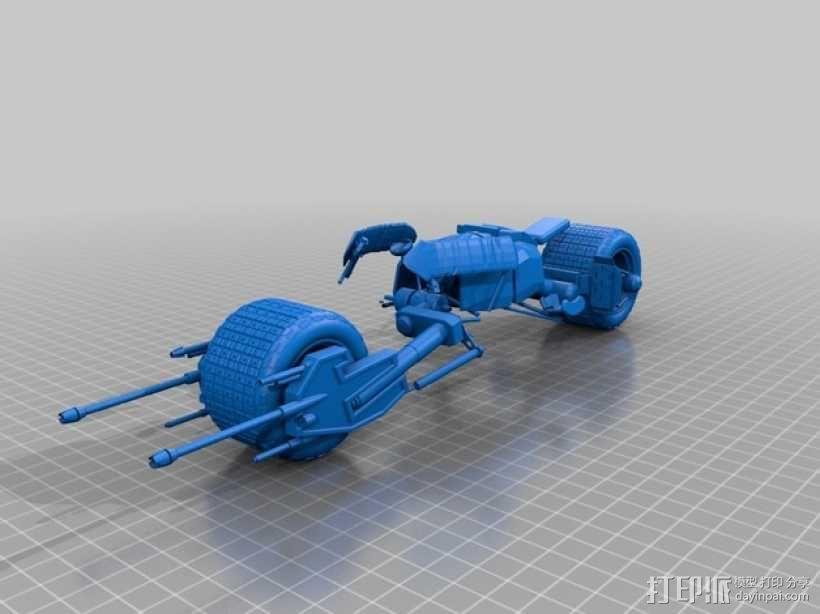 蝙蝠摩托车 3D模型  图3