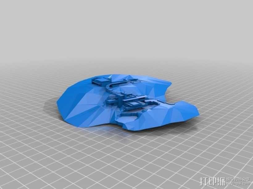 流水别墅 3D模型  图1