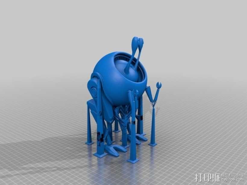 蜗牛步行机 3D模型  图2