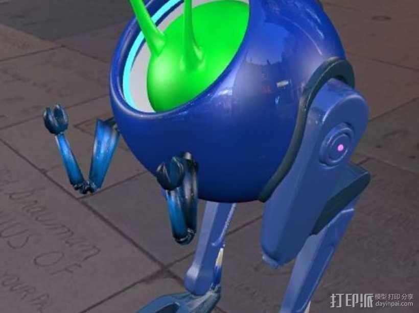 蜗牛步行机 3D模型  图1
