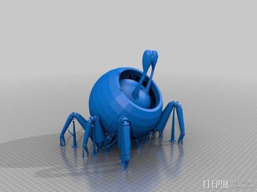 蜗牛爬行机 3D模型  图2