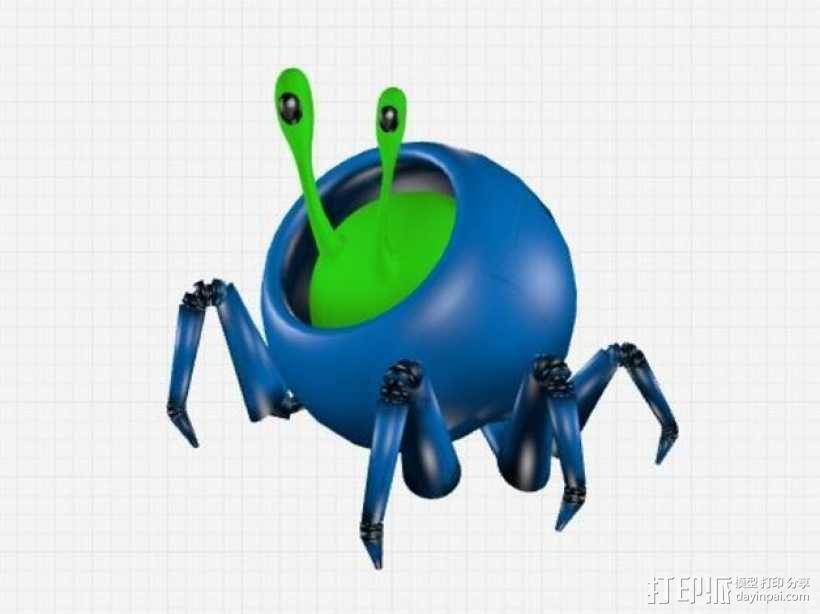 蜗牛爬行机 3D模型  图1