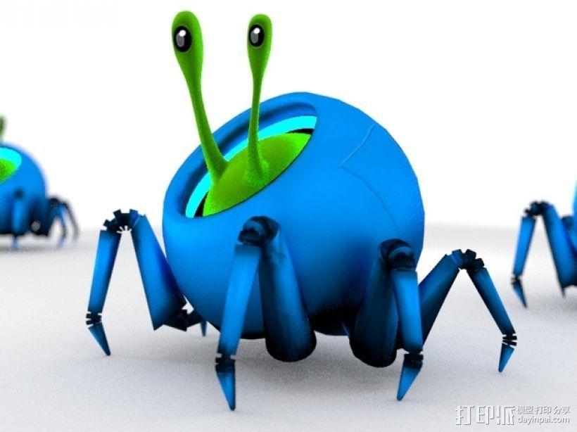 蜗牛爬行机 3D模型  图3