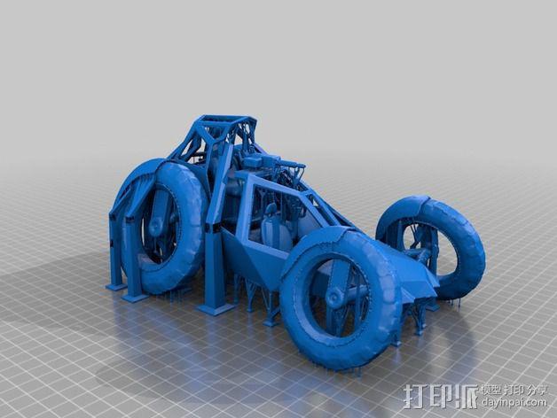 攻击性载具 双轮车 3D模型  图2