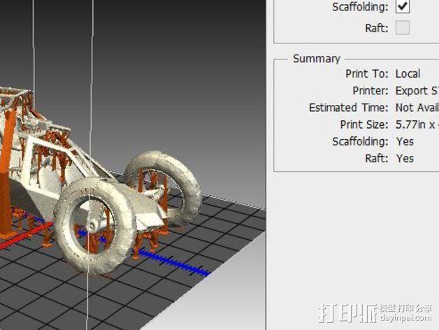 攻击性载具 双轮车 3D模型  图3