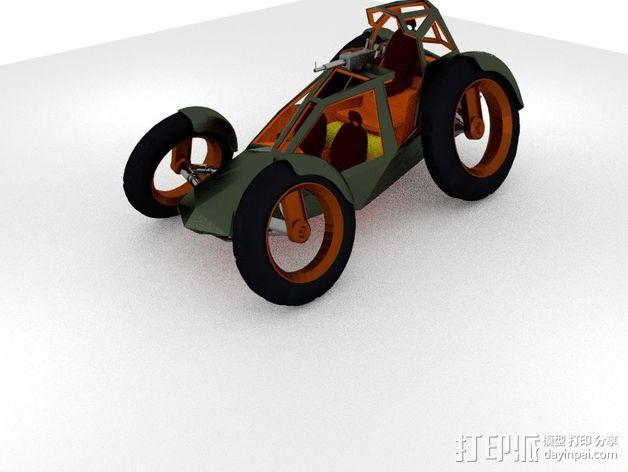 攻击性载具 双轮车 3D模型  图5