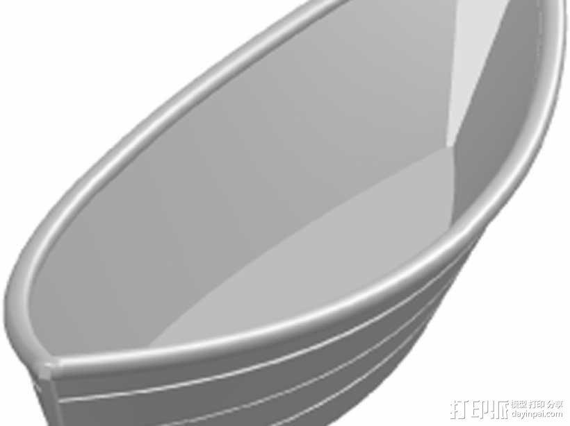 平底小渔船 3D模型  图1