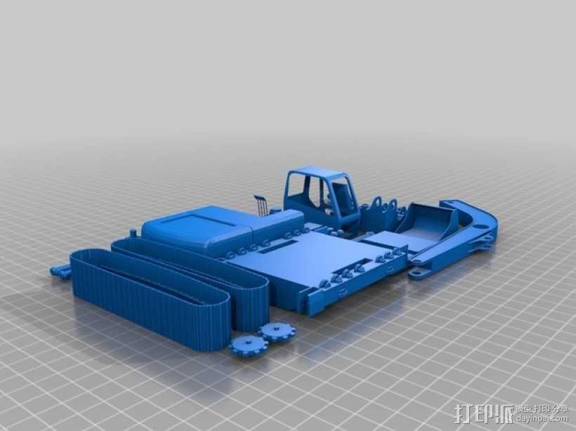 铲斗机 挖机 3D模型  图2
