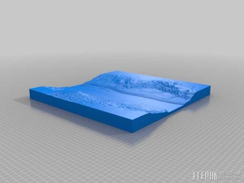 河岸地形模型 3D模型  图2